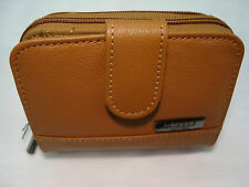 Real Leather Ladies Purse Wallet with Three Sections for Note,Change,Cards RFID