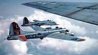 COLOR WWII Photo B-17 Flying Fortress Bombers WW2 World War Two US Army / 5022