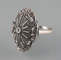9901140 925er Silber Art déco deco Ring mit Swarovski-Steinen Gr. 56