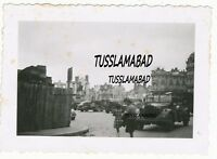 Wehrmacht  Besatzung Frankreich Belgien Stadt Fahrzeuge Pkw Denkmal Ruinen 2 WK