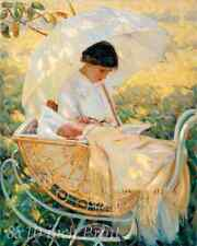 Summertime by Mary Cassatt Art Woman Girl Boat Water Ducks 8x10 Print 0974