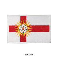 WEST RIDING County Flag Embroidered Patch Iron on Sew On Badge For Clothes Etc