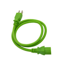 Green 3 FT COMPUTER POWER SUPPLY AC CORD CABLE WIRE FOR HP DELL ACER DESKTOP PC