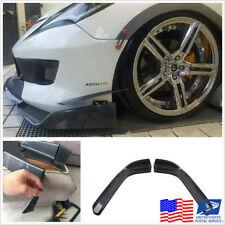 2 x Carbon Fiber Look Car Front Bumper Lip Splitter Wings Diffuser Canard Shovel