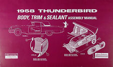 1958 Ford Thunderbird Body and Interior Assembly Manual 58 T bird Trim