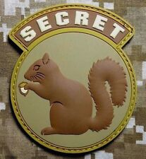 BLACK OPS USA ARMY SECRET SQUIRREL DESERT PVC HOOK PATCH