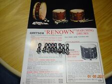 Vintage Gretsch Renown Marching Drum Tension Rod Clips Guides Bass Drum Snare