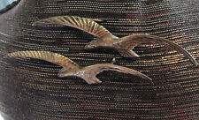 Vintage TWO LOT Silver PINS MEXICO SIGNED EAGLES