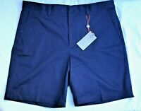 Fennec Super Soft Cotton/Spandex Flat Front Casual Navy Shorts NWT SALE: $21.99