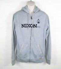 Nixon Sweater Men's Size Large Full Zip Hooded Grey Black