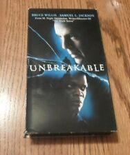 Unbreakable (Vhs, 2001) Bruce Willis Samuel L Jackson Robin Wright Penn