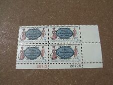 VTG Plate BLK 4 5c Great Federation of Women's Clubs US Postage Stamps #1316   B