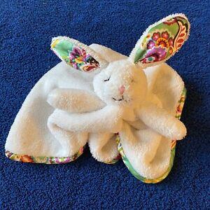 "Vera Bradley Baby Bunny Rabbit Lovey Security Blanket Tutti Frutti Green 13"""