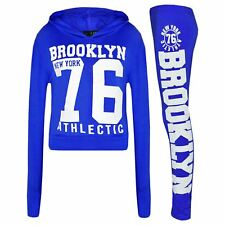 niña Suéter infantil Brooklyn 76 Capucha Top Corto & Leggings Ropa de descanso