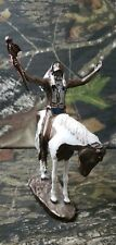 Deliverence Chuck Ren 1993 Mystic Warriors Hand Painted Bronze Native American