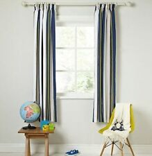 JOHN LEWIS LITTLE HOME FINLAY STRIPE BLACKOUT LINED CURTAINS W165CM X D137CM