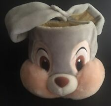 Disney Store Thumper Plush Easter Bunny Rabbit Basket Candy Pail Bucket Velkro