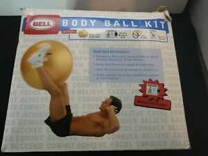 "NEW Bell Massage Balance Ball Kit 30"" Body Ball DVD Air Pump Exercise Manual"