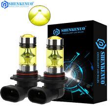 Pair 9005 HB3 LED Daytime Running Light CREE 3000K Gold Yellow Fog Light Bulbs