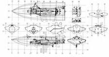 Bauplan Mistral 2 Modellbauplan Rennboot Schiffsmodell