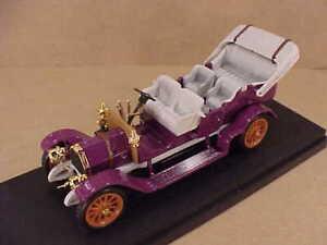 "RIO #24 1/43 Diecast 1905 Fiat 60 HP Open Top ""Torpedo"" Touring Car in Mauve"