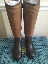 NIB $585 TORY BURCH Kensington Shearling Lined Knee High Riding Boots Size 7
