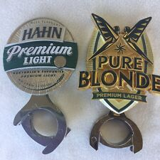 HAHN Premium Light + PURE BLONDE METAL Beer Tap top Badge in GREAT condition