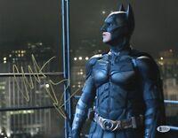L@@K CHRISTIAN BALE SIGNED 11X14 BATMAN PHOTO AUTHENTIC AUTOGRAPH BECKETT BAS