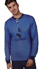 Pigiama Uomo Bordato Cotone Jersey Pantalone + Manica lunga NAVIGARE B2140980
