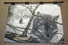 Eyes In The Mist ~ Wolves Tapestry Wall Hanging