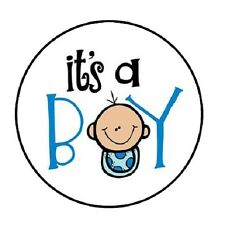 48 Its A Boy #2!!!  ENVELOPE SEALS LABELS STICKERS 1.2