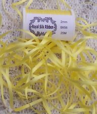 100% SILK EMBROIDERY RIBBON 2MM 25 YARD SPOOL  -GOLD - COLOR