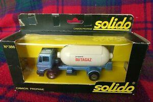 "SOLIDO ""Toner Gam"" #386 Mercedes 1217 K/32 ""Butagaz"" tanker (MIB) Made in France"
