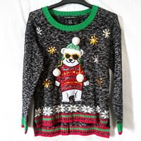 Ugly Christmas Sweater Polar Bear United States Sweaters Womens Size S Preowned