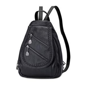 Women's Backpack Soft PU Leather Shoulder Bag Schoolbag Tote Handbag Rucksack #a