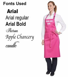 Bib Apron Personalised Embroidered Text Logo Adults