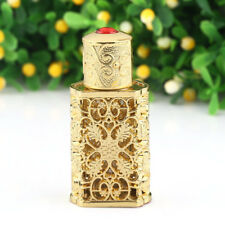 2ml Vintage Gold Empty Refillable Metal Glass Perfume Bottle Stopper Home Decor