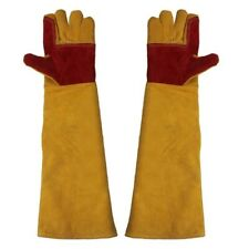 1X(60Cm Lengthening Working Gloves Wear Resistant Electric Welding Solderin K3U6
