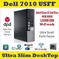 Dell Optiplex 7010 USFF Intel Core i5-3rdGen 8GB RAM 120SSD Windows-10Pro Wi-Fi