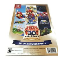 STICKERS Super Mario 3D All Stars Nintendo Switch LIMITED RELEASE STICKERS ONLY