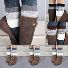 Women Fashion Crochet Knitted Boot Cuffs Toppers Leg Warmers Winter Socks