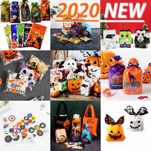 2021 NEW Halloween Party Treat Candy Sweet Gift Cello Bags / Boxes / Stickers