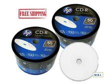 HP 52X White Inkjet Printable CD-R CDR Blank Disc 700MB Wholesale Lot