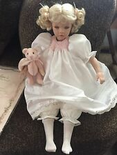 "Collectible doll by Pauline Rare! ""Love"" LE 499/950 COA, box, toy bear,12"" tall"
