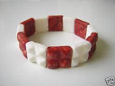Altes Armband aus Schaumkoralle Rot Weiß 40,2 g