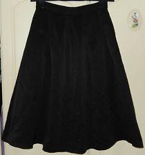 Fashion Midi Skirt Plain Black Asos Pleated New BNWT Size UK 12 EU EUR EURO 40