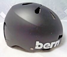 Bern Macon All Season Hard Hat - Size M; Black -Skate, Ski, Snowboard, Bike -Blk