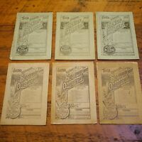 Lot of 6 1880s 19th Century The Senior Quarterly Religious Pamphlets Magazine
