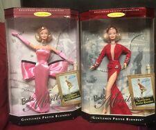 (2) Mattel Barbie Marilyn Monroe 1997 Gentlemen Prefer Blondes #17451 & #17452