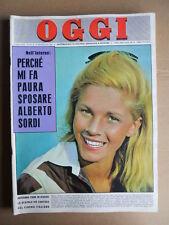 OGGI n°39 1962 Jayne Mansfiled Catherine Spaak Vittorio Gassman  [G747]